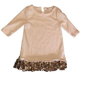 Crewcuts Dress with Gold Sequence Size 5